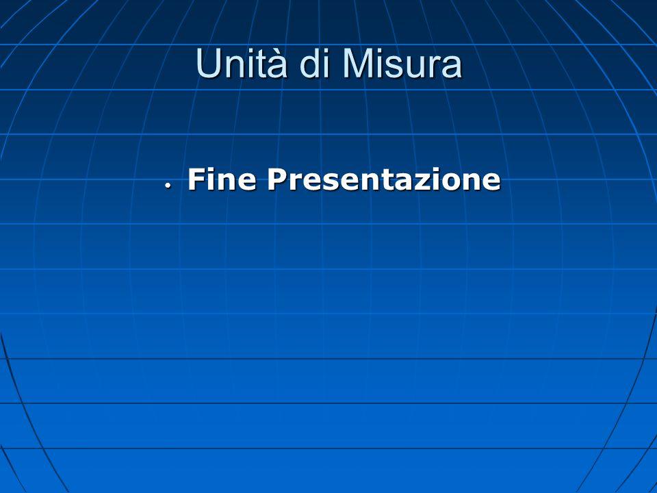 Unità di Misura Fine Presentazione