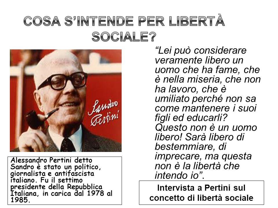 Cosa s'intende per libertà sociale
