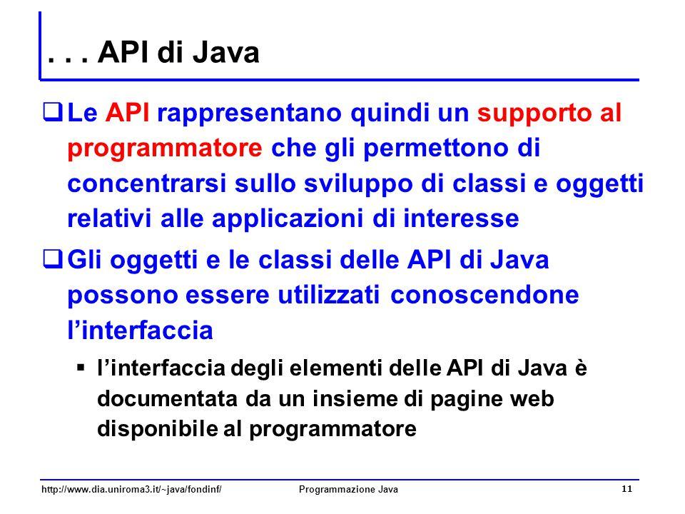 . . . API di Java