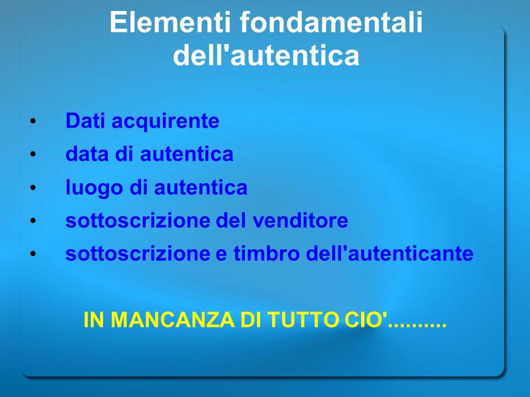 Elementi fondamentali dell autentica