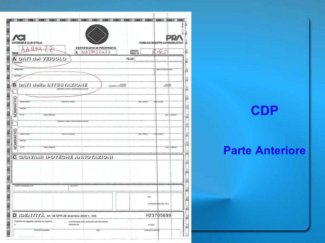 CDP Parte Anteriore
