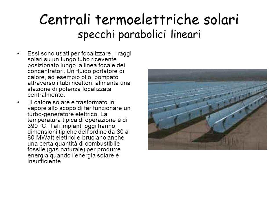 Centrali termoelettriche solari specchi parabolici lineari