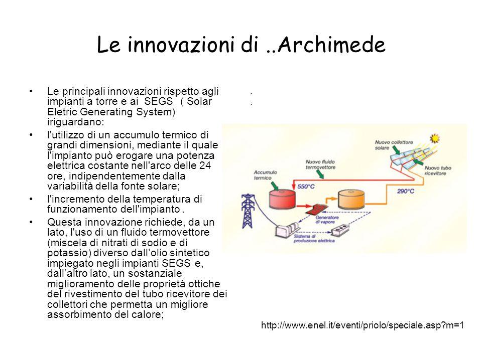 Le innovazioni di ..Archimede