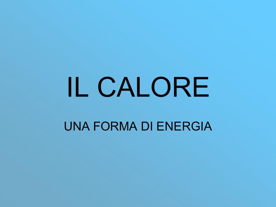 IL CALORE UNA FORMA DI ENERGIA