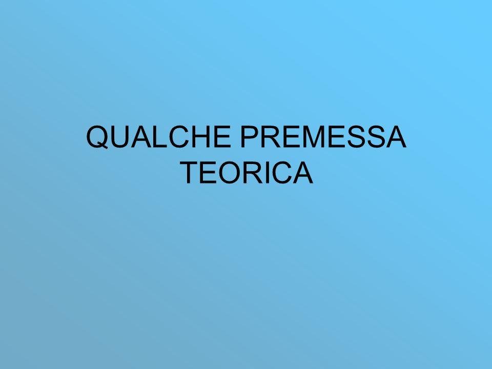 QUALCHE PREMESSA TEORICA