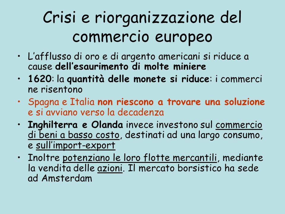 Crisi e riorganizzazione del commercio europeo