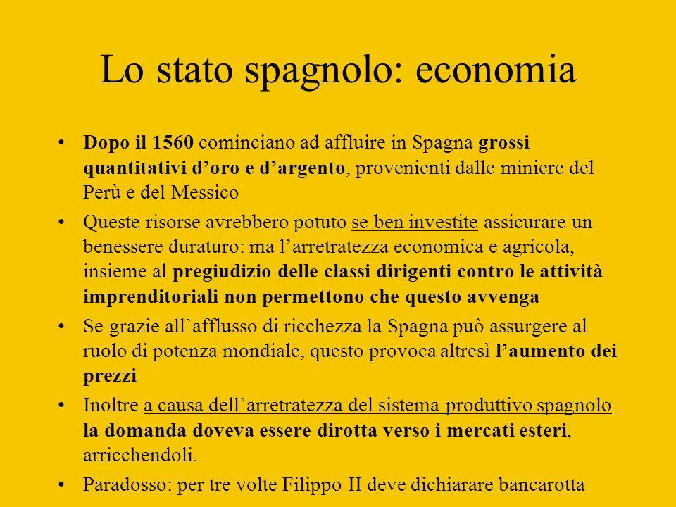Lo stato spagnolo: economia