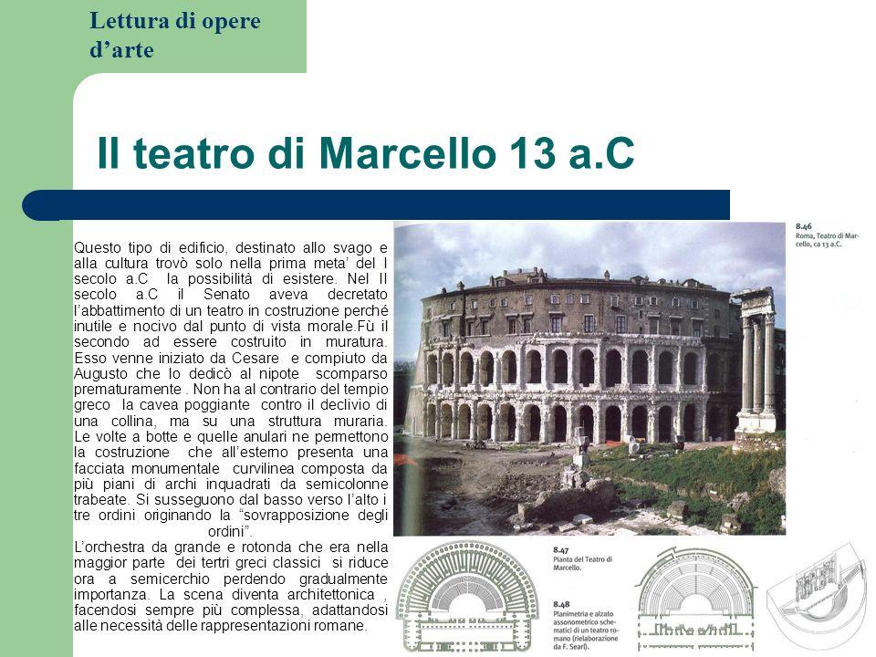 Il teatro di Marcello 13 a.C