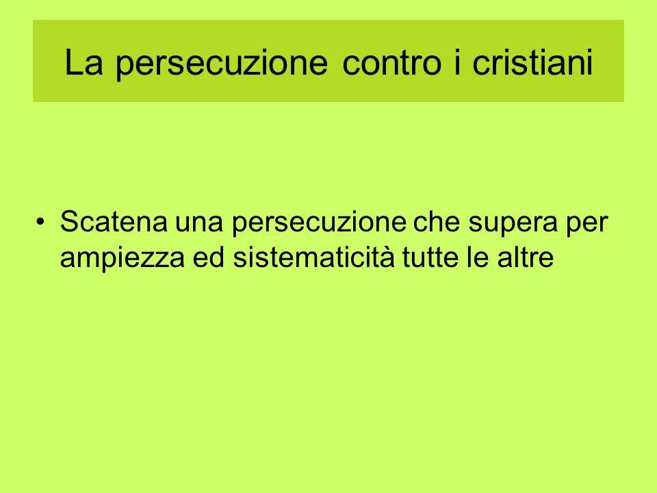 La persecuzione contro i cristiani