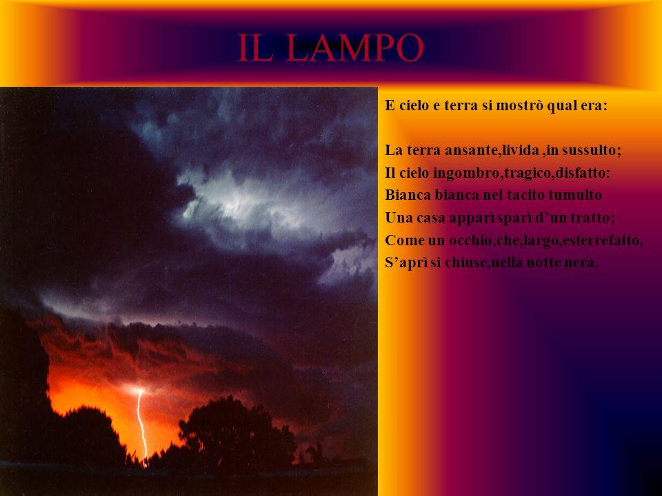 IL LAMPO E cielo e terra si mostrò qual era: