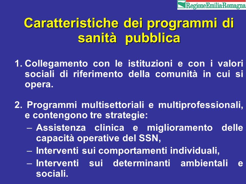 Caratteristiche dei programmi di sanità pubblica