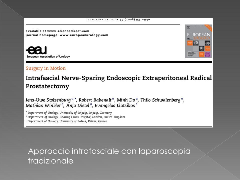 Approccio intrafasciale con laparoscopia tradizionale