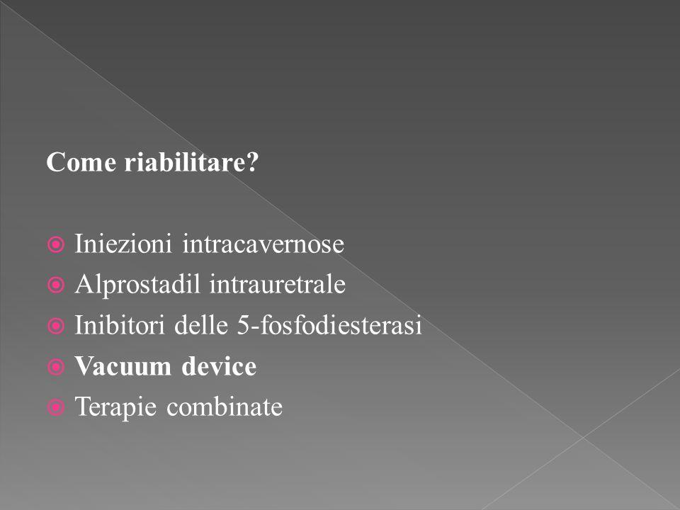 Come riabilitare Iniezioni intracavernose. Alprostadil intrauretrale. Inibitori delle 5-fosfodiesterasi.