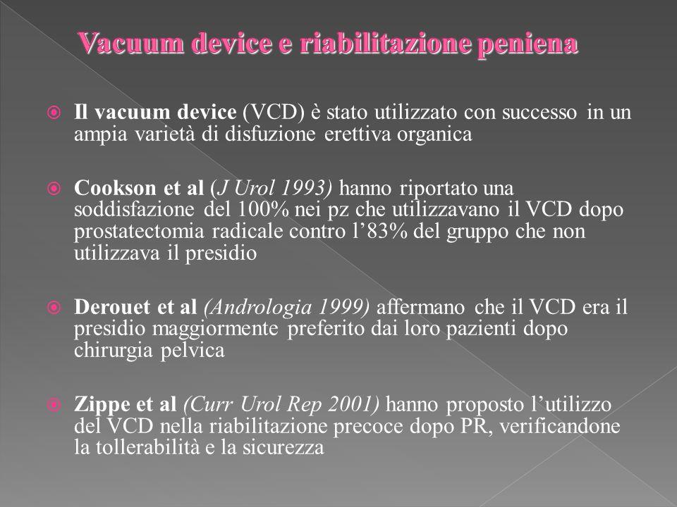 Vacuum device e riabilitazione peniena