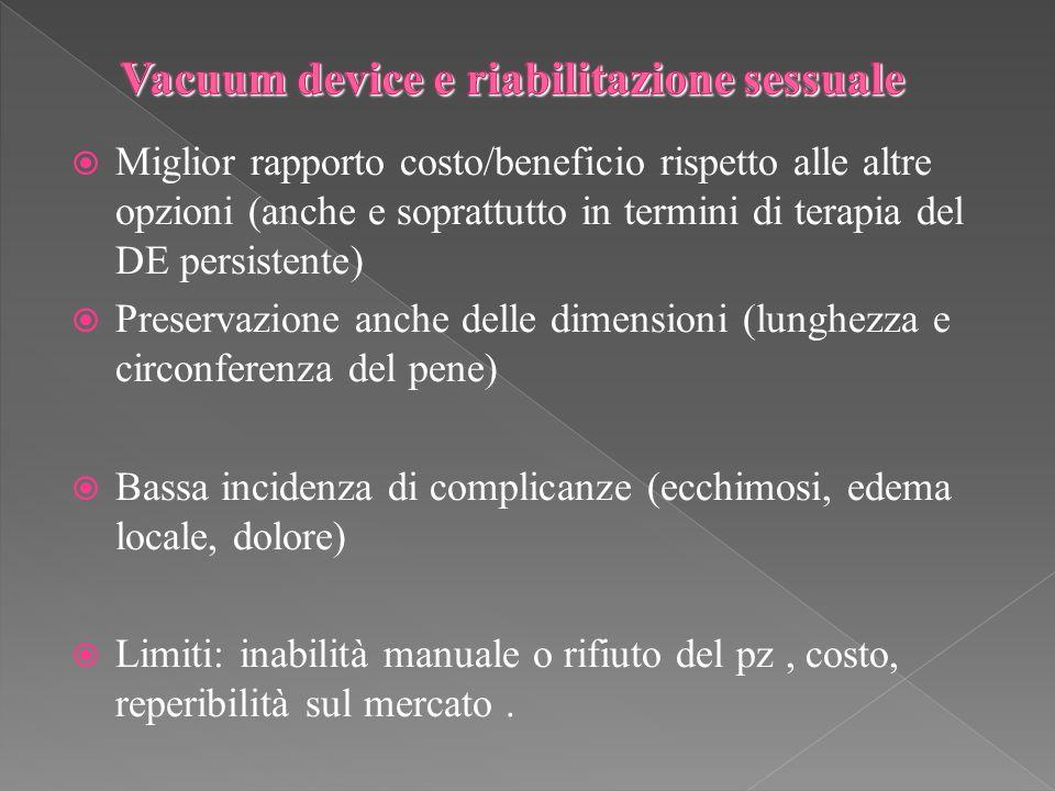 Vacuum device e riabilitazione sessuale