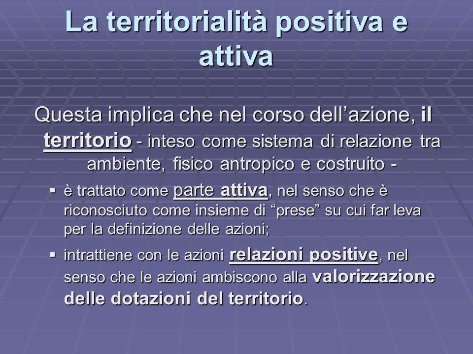 La territorialità positiva e attiva