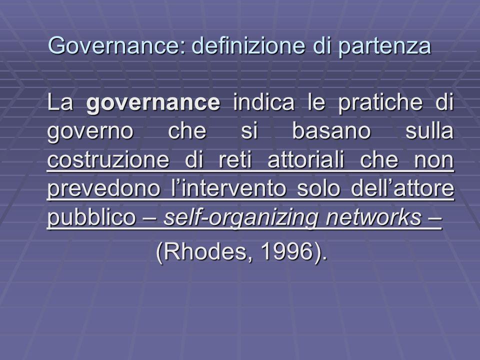 Governance: definizione di partenza