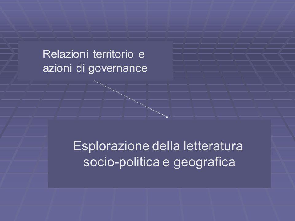 Esplorazione della letteratura socio-politica e geografica