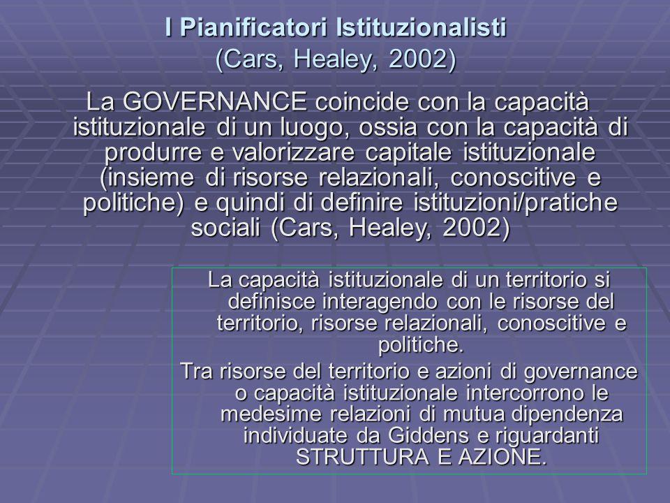 I Pianificatori Istituzionalisti (Cars, Healey, 2002)
