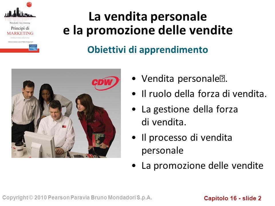 La vendita personale e la promozione delle vendite