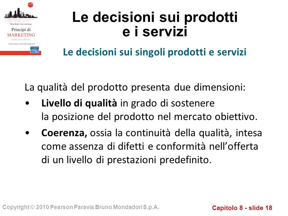 Le decisioni sui prodotti e i servizi