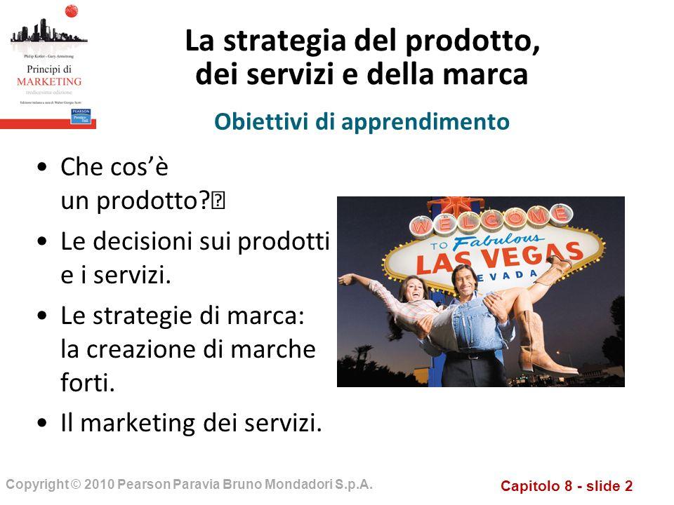 La strategia del prodotto, dei servizi e della marca