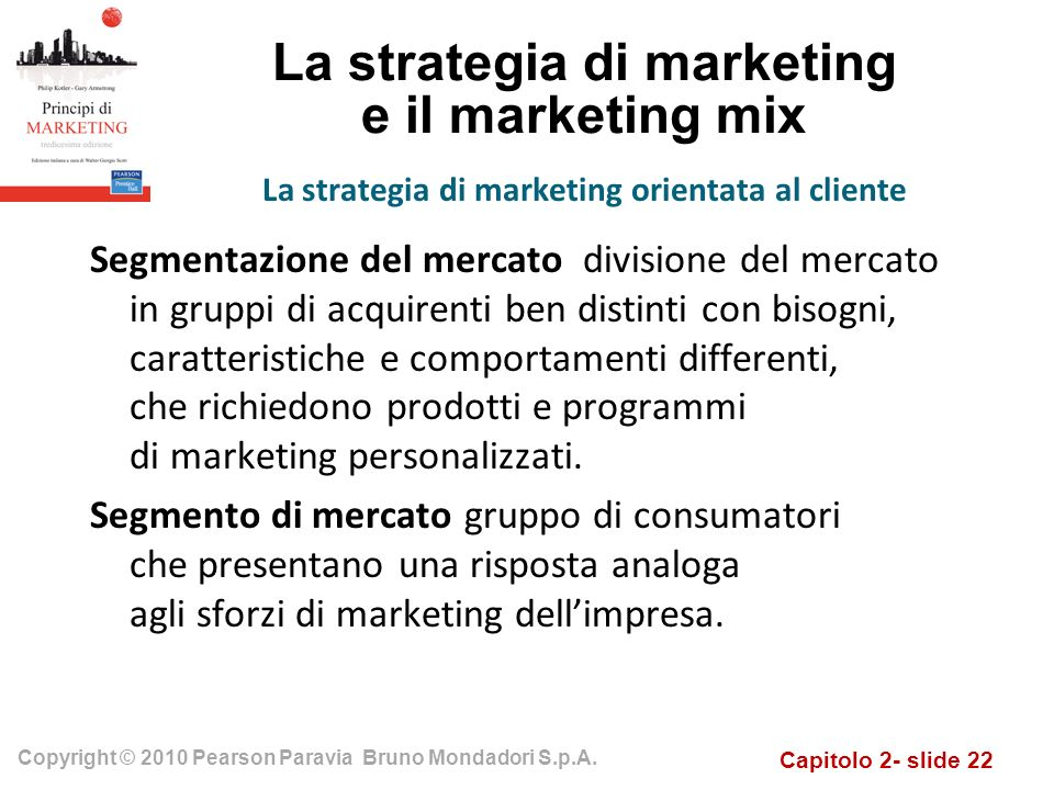 La strategia di marketing e il marketing mix