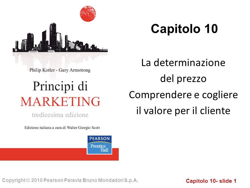 Capitolo 10 La determinazione del prezzo Comprendere e cogliere
