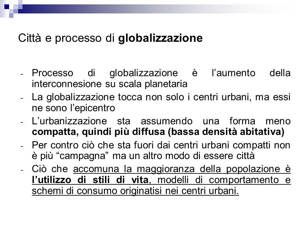 Città e processo di globalizzazione