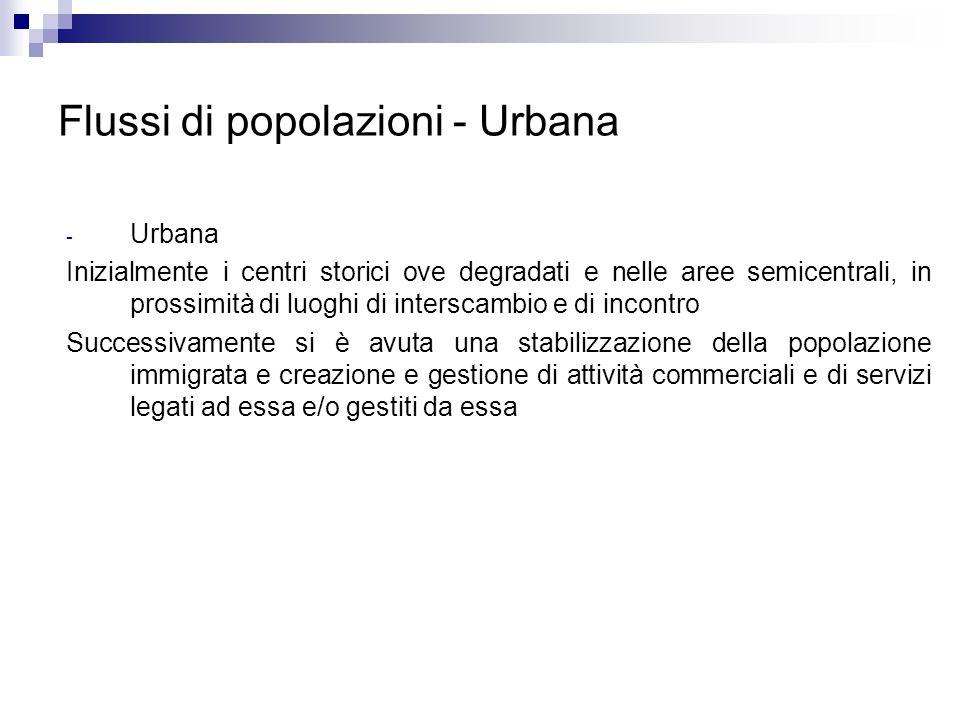 Flussi di popolazioni - Urbana