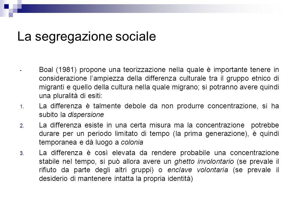 La segregazione sociale