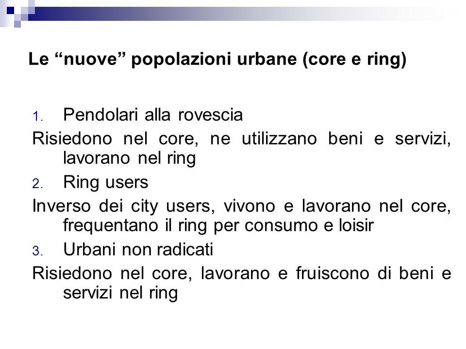 Le nuove popolazioni urbane (core e ring)