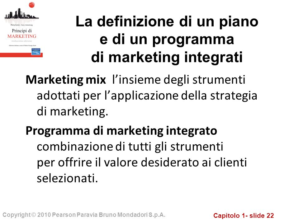 La definizione di un piano e di un programma di marketing integrati