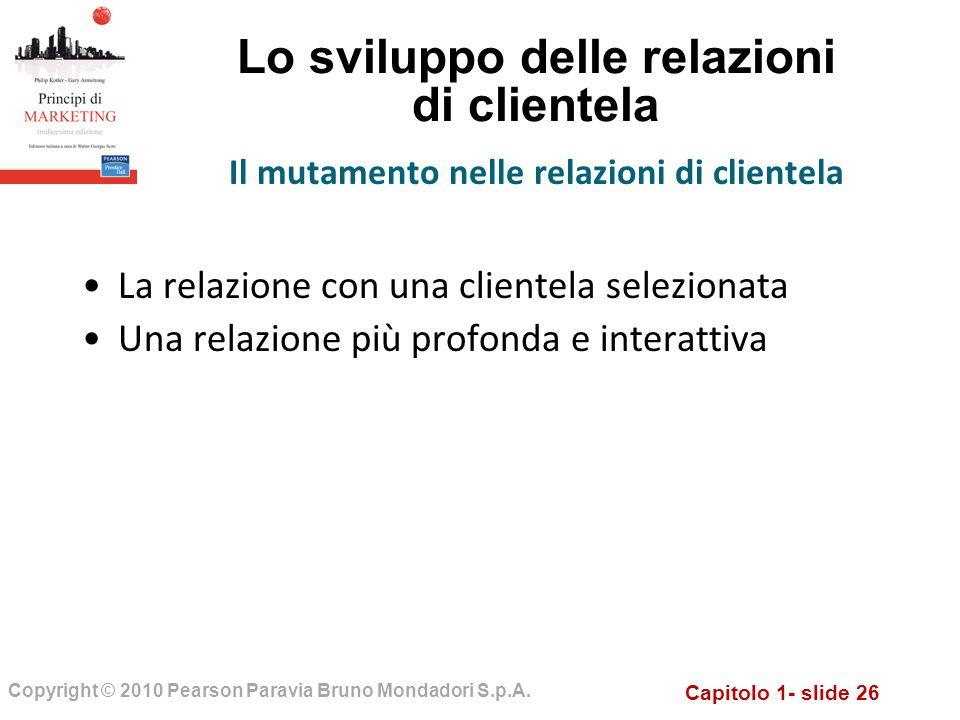 Lo sviluppo delle relazioni di clientela