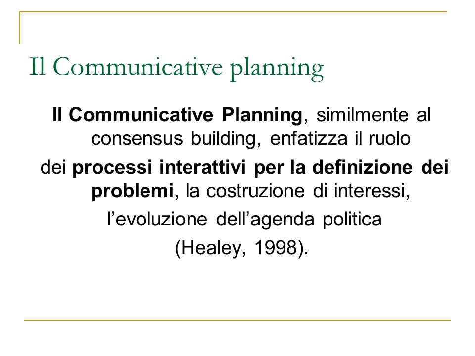 Il Communicative planning