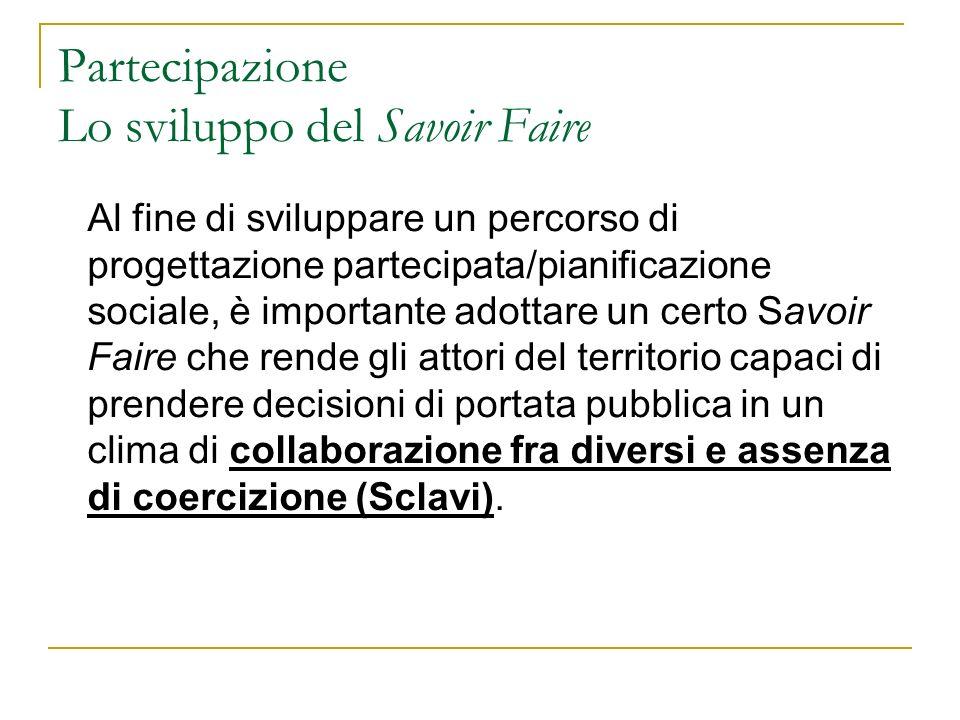 Partecipazione Lo sviluppo del Savoir Faire