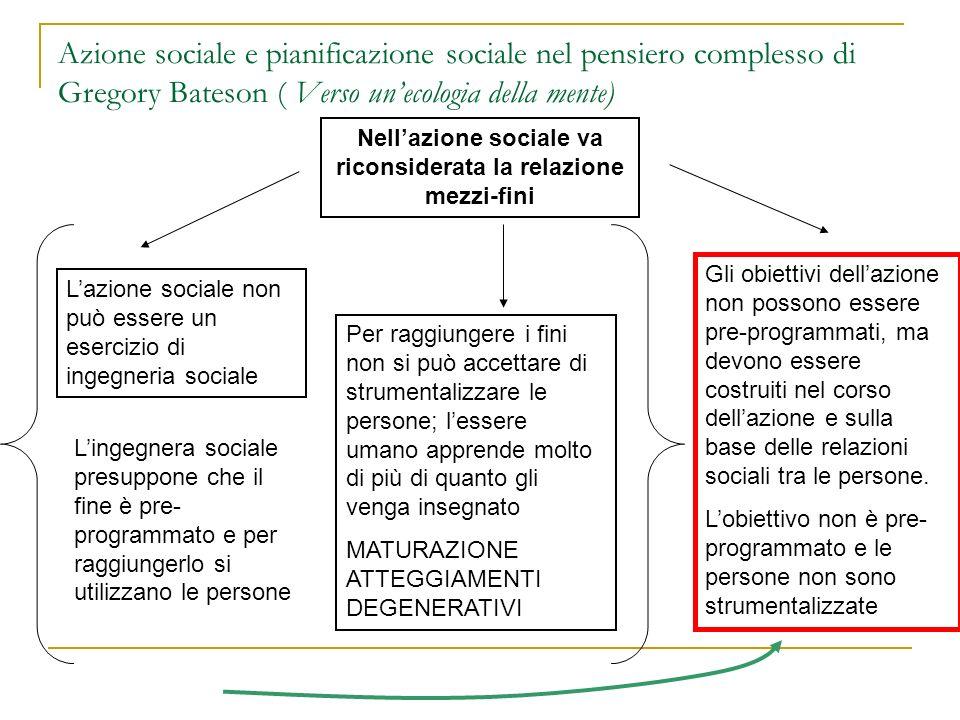 Nell'azione sociale va riconsiderata la relazione mezzi-fini