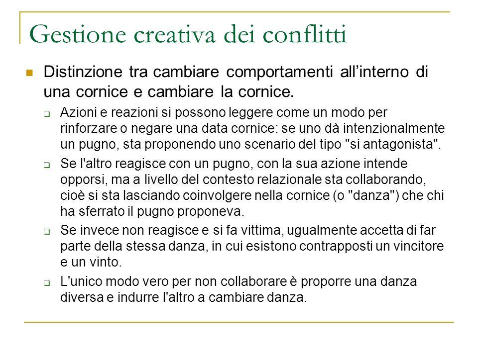 Gestione creativa dei conflitti