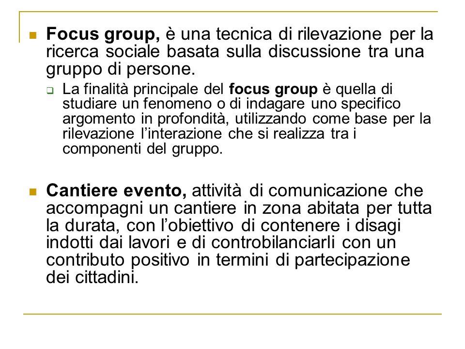 Focus group, è una tecnica di rilevazione per la ricerca sociale basata sulla discussione tra una gruppo di persone.