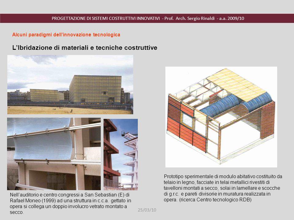 L'Ibridazione di materiali e tecniche costruttive