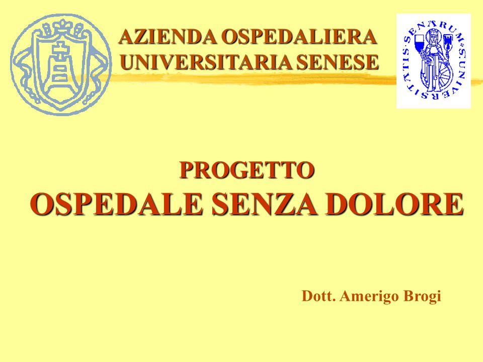 OSPEDALE SENZA DOLORE PROGETTO AZIENDA OSPEDALIERA