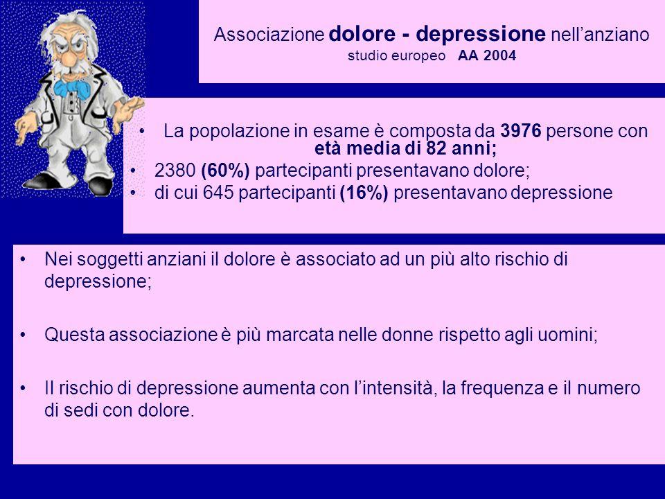Associazione dolore - depressione nell'anziano studio europeo AA 2004