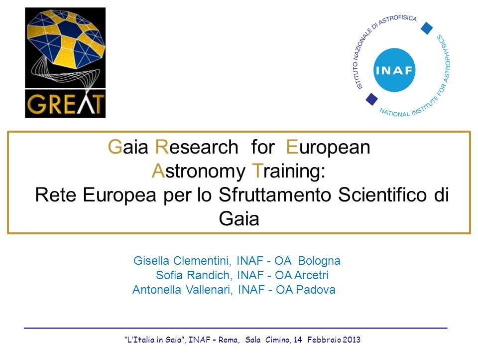 Gaia Research for European Astronomy Training: