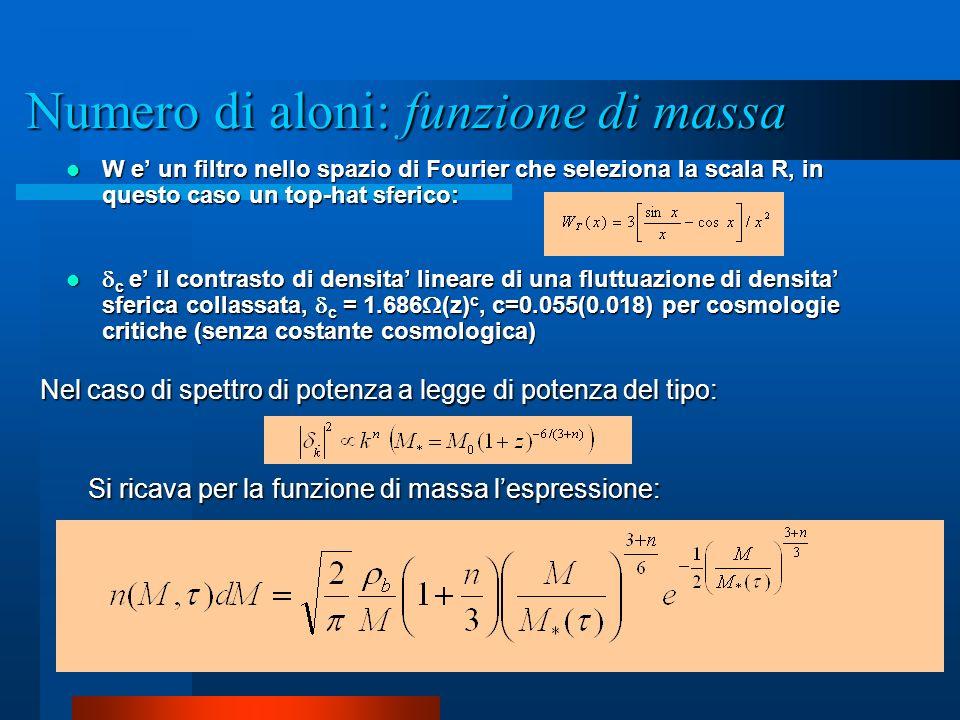 Numero di aloni: funzione di massa