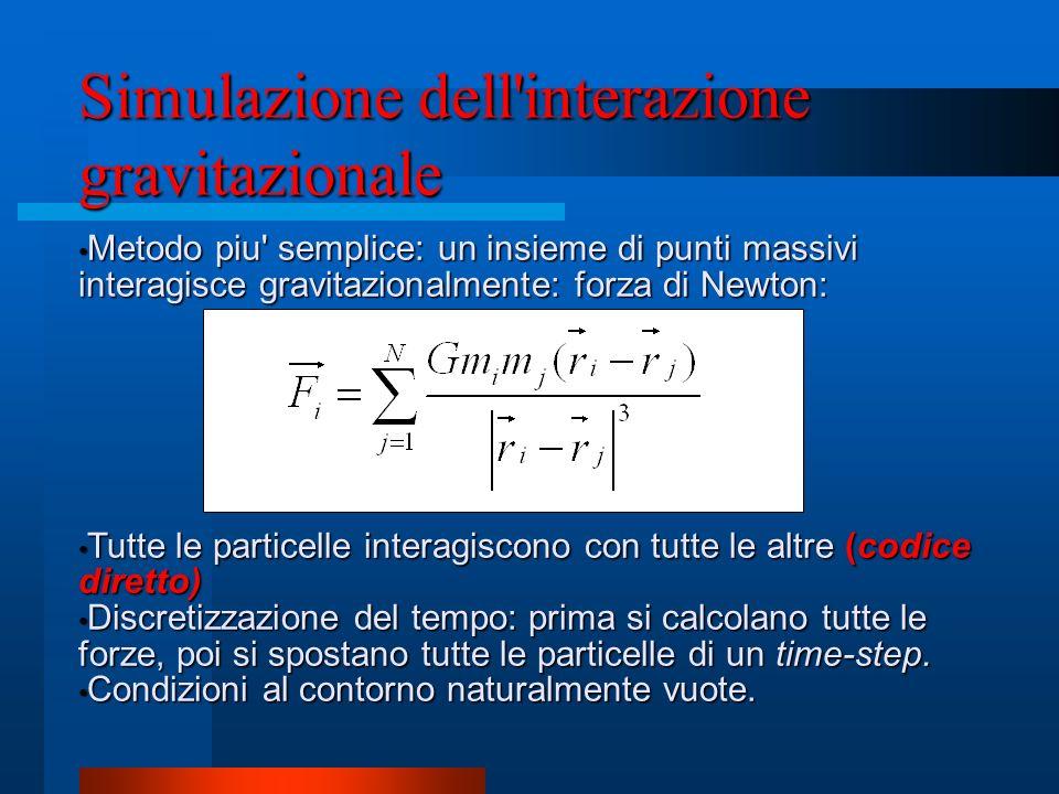 Simulazione dell interazione gravitazionale