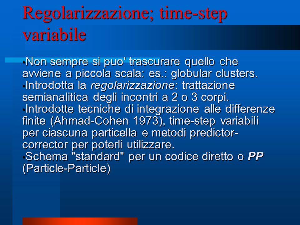 Regolarizzazione; time-step variabile