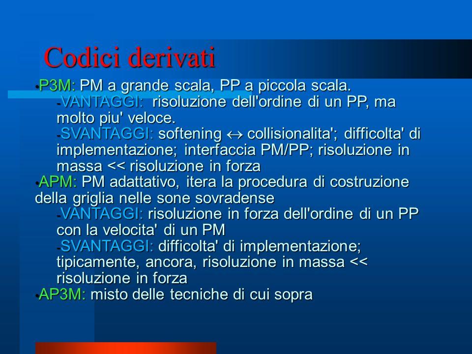 Codici derivati P3M: PM a grande scala, PP a piccola scala.