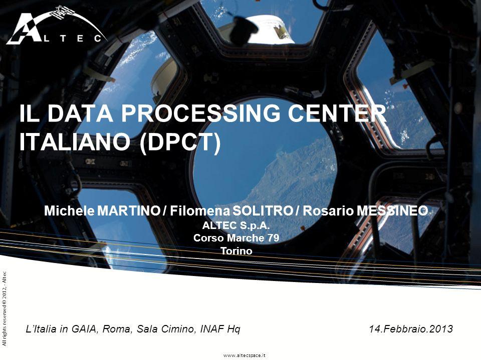 IL DATA PROCESSING CENTER ITALIANO (DPCT)
