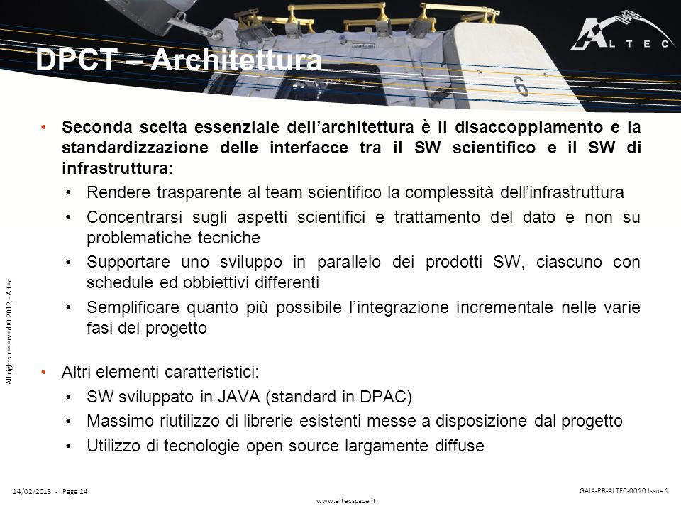 DPCT – Architettura