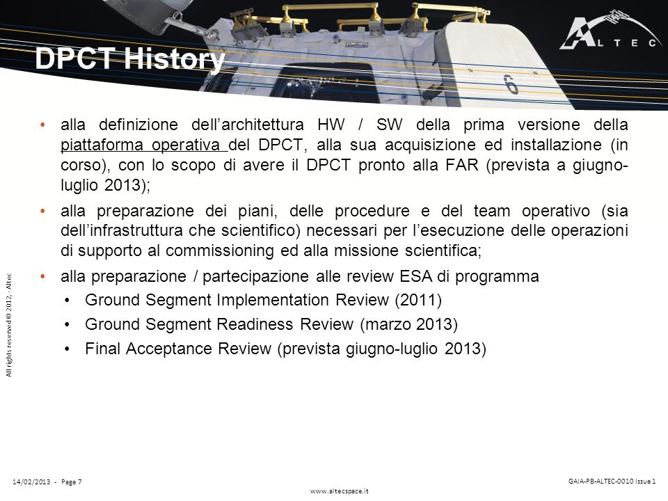 DPCT History